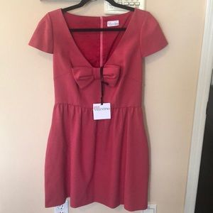 RED VALENTINO cap sleeves bow dress BRAND NEW